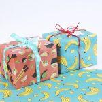 Die Verpackung eines Geschenks